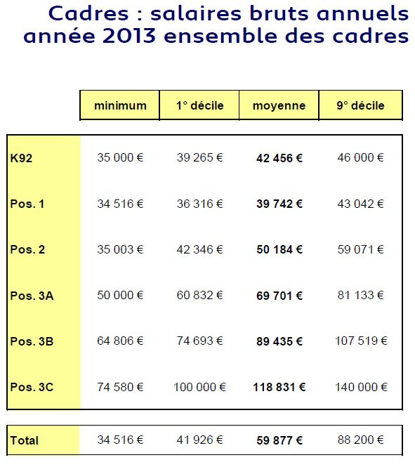 Bilan PCA 2013_Cadres